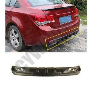 Body Kit Durable Abs Rear Diffuser Lip Spoiler Fit For Chevrolet Cruze 2008 2014