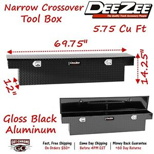 Dz 6170nb Dee Zee Tool Box Narrow Crossover Black Tread Aluminum Full Size Truck