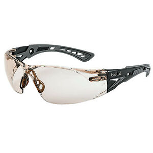 Rush Plus Safety Glass Csp Lens Gry blk Temple 1 Each