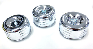 Hot Rod 4 5 8 Chrome Louvered Air Cleaners Tri Power Intake 1bbl 2bbl Ford Chevy