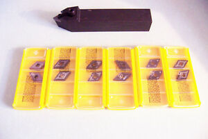New 1 Profile Turning Tool Holder With 12 Pcs Dnmg 432 Kennametal Inserts