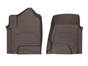 Weathertech 3d Floor Mats For Gm Trucks 2014 2018 Hd 2019 1st Row Set Cocoa