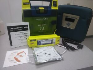 Cardiac Science Automatic Powerheart G3 With Battery case pads And Warranty