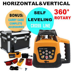 500m Range Automatic Laser Level Rotary Rotating Self Leveling Red Beam W Case