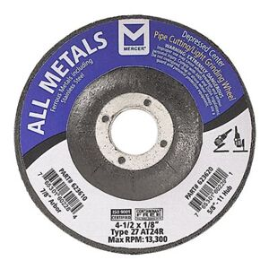 Mercer Industries 623610 Type 27 Pipe Cutting And Light Grinding Wheel For All