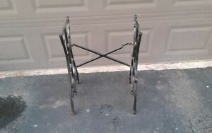 Antique White Treadle Sewing Machine Base 1900 S Table Frame Stand