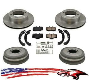 Brake Rotors Pads Drums Shoes For Toyota Tacoma 4x4 4 Wheel Drive 6 Lug 95 98