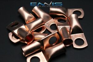 2 Gauge Copper 3 8 Ring 50 Pk Crimp Terminal Connector Awg Ga Car Eye Cur238