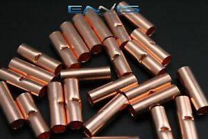 4 Gauge Copper Butt Connector 100 Pk Crimp Terminal Awg Battery Cur4
