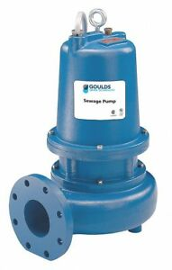 3 Hp Manual Submersible Sewage Pump 230 Voltage 390 Gpm Of Water 15 Ft Of