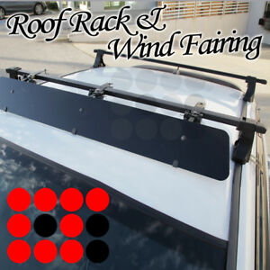 Fit Honda Rooftop Rack 48 Square Cross Bars Luggage Carrier wind Fairing
