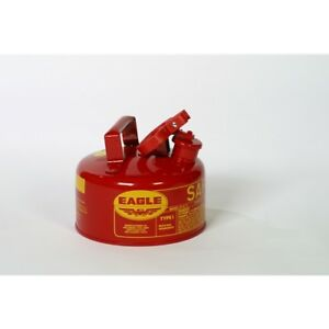 Eagle Ui 10 s Red Galvanized Steel Gas Safety Can 1 Gal Capacity 8 Height