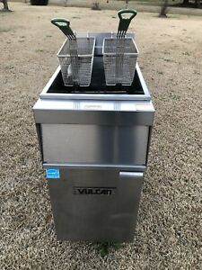 Vulcan Electric Deep Fryer Model 1er50a 208 Volts 3 Phase Extra Clean