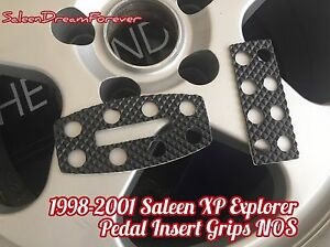 Rare 98 01 Saleen Xp8 Xp6 Explorer Pedal Grip Inserts Set Ford Nos Mustang