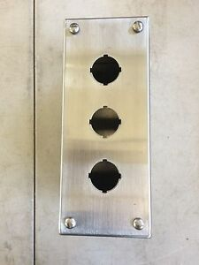 New Austin Electrical Enclosure Stainless Steel Deep For Three 30mm Operators