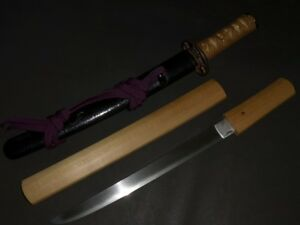 Tanto Sword W White Sheath Koshirae Edo 17 5 11 1 580g
