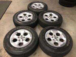 Used 2015 Jeep Wrangler Unlimited Wheels And Tires Good Condition Oem With Lugs