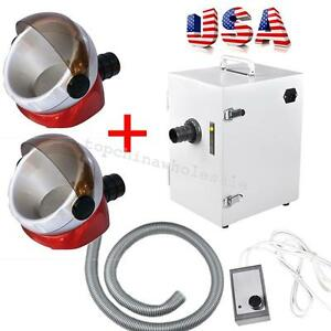 Dental Lab Digital Single row Dust Collector Vacuum Cleaner 2pc Suction Base Fda