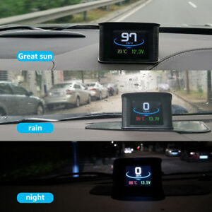 Speedometer Hud Head Up Display P10 Obd2 Digital Smart Car Driving Speed Alarm