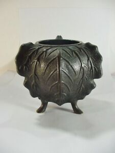 Antique Bronze Three Footed Asian Censor Pot Great Pattern And Shape