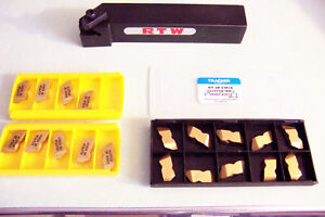 New Psr 163d 1 Top Notch Grooving Threading Tool Holder W 19 New Inserts