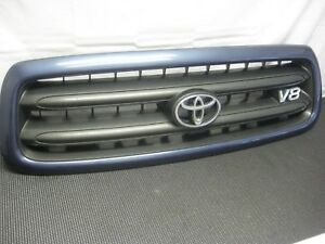2001 2004 Toyota Sequoia Oem Front Grille Grill With Logo Factory Blue