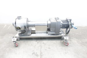 Sine Positive Displacement Stainless Pump 4in X 4in