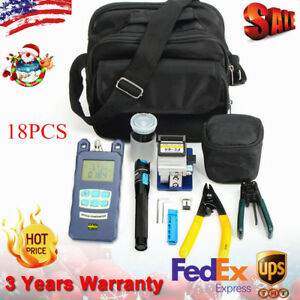 10 In 1 Fiber Optic Ftth Tool Kit With Fc 6s Fiber Cleaver And Power Meter