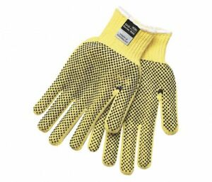 Mcr Safety 9366m Yellow 2 sided Pvc Dotted Work Gloves 1 Dozen Medium