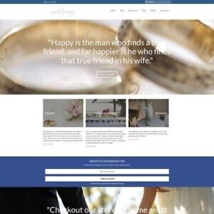 Wedding Products Website Business For Sale Work From Home Domain Hosting