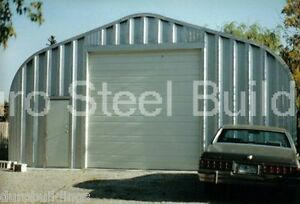 Durospan Steel 25x25x13 Metal Prefab Garage Building Kit Workshop Factory Direct