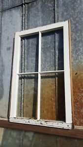 Architectural Salvage Antique Window Pane Frame Rustic 31x20 4 Pane