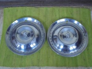 52 53 Lincoln Hub Caps 15 Set Of 2 Wheel Covers Hubcaps 1952 1953