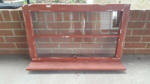 Architectural Salvage Antique Window Pane Frame Rustic 2 Pane Bookshelf Shelf