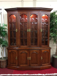 Pennsylvania House Lighted Cherry China Cabinet Delivery Available