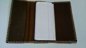 Oil Field Leather Tri Fold Pipe Tally Book Cover 8 75 X 4 Uuu