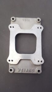 Vintage Weiand 471 Single Carb Adapter Supercharger Blower Gasser Rat Hot Rod