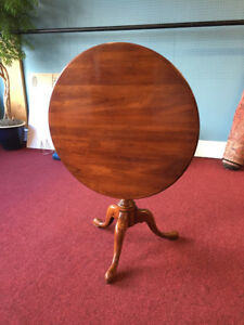Statton Cherry Tilt Top Table Centennial Finish Delivery Available
