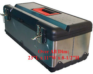 23 Portable Stainless Steel Mobile Tool Box Chest Storage Case Organizer