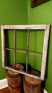 Antique Window Pane Frame Rustic 6 Pane Driftwood Style One Of A Kind 32x27