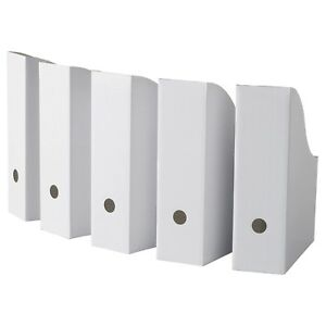 Ikea Flyt Magazine Storage Holder File White New 25 pack