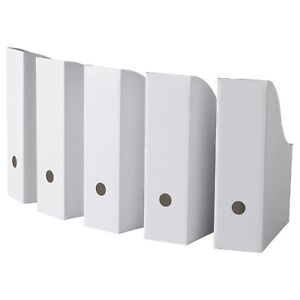 Ikea Flyt Magazine Storage Holder File White New 40 pack