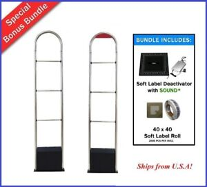 Wireless No Cable Eas Checkpoint Compatible Security Antenna System Bonus