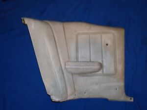 1969 1970 Mercury Cougar Xr7 Rear Seat Side Panel White Drivers Side
