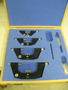Fowler Bowers External Micrometer Set In Case 0 100mm 9 4 Fe39