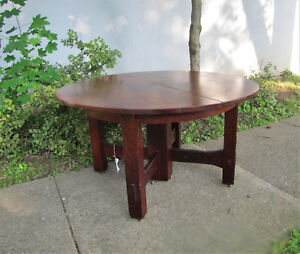 Antique Gustav Stickley Heavy Duty Arts Crafts Dining Table W5325 Free Ship