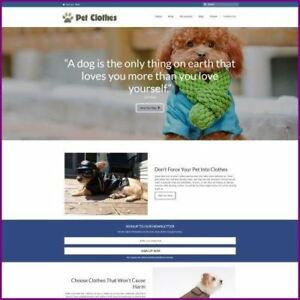 Fully Stocked Dropshipping Pet Clothes Website Business For Sale Domain Host