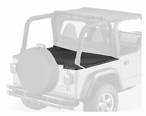 Bestop Duster Deck Cover 97 02 Jeep Wrangler Tj Black Denim W Factory Hard Top