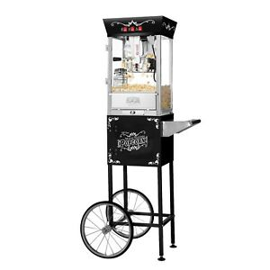 Great Northern Matinee Antique Style Popcorn Popper Machine W cart 8 Ounce