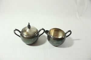 Vintage Fb Rogers Silver Co Sugar Bowl Creamer